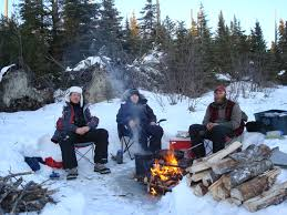 Dog Sledding Winter Camping With White Wilderness |